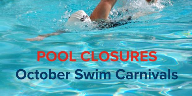 Swim Carnival Pool Closures
