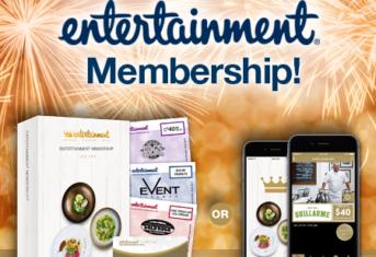 We're selling Entertainment Memberships